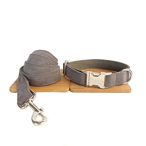 PENIVO 5 Größe wählen verstellbare Nylon Walking Hundehalsband, Training Hundehalsband und Blei-Set Seil Leine für kleine mittelgroße Hunde (XS 2cm * 23-30cm * 110cm) (Hundehalsband Mit Leine)