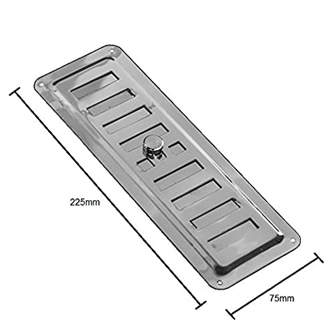 Adjusted Air Vent Inox 8,8 inch x 3 inch (225mm