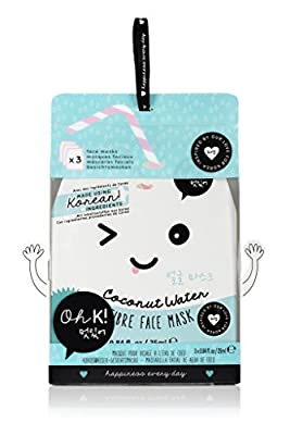 Oh K! Hydrating Face Mask Sheets - Coconut Water Fibre Face Mask, Pack of 3 from NPW