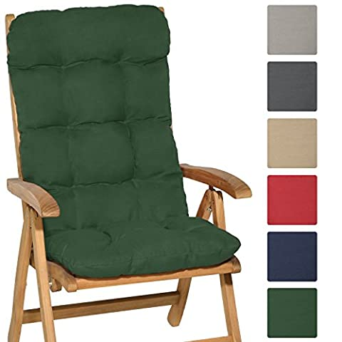 Beautissu® High Back Chair Cushion Flair HL 120 x 50