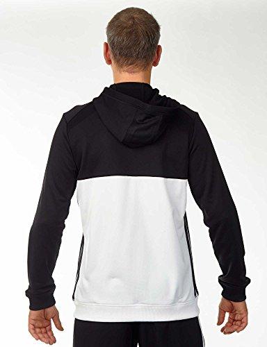 adidas Mens T16 Hoody Black White