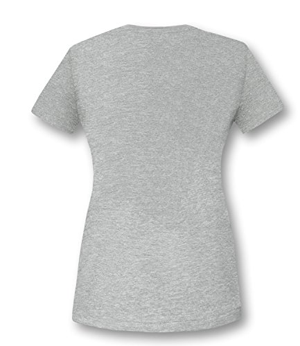 EZYshirt® Iron Damen Rundhals T-Shirt Grau/Weiss