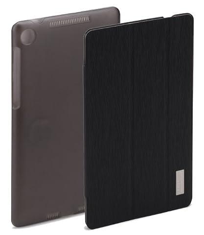 Rock Elegant Étui protecteur Ultra-fin à rabat en cuir PU pour Asus Google Nexus 7 FHD II Modèle 2013 Noir