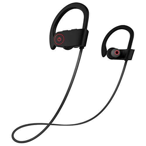 Auriculares Bluetooth,Aokey Auriculares Bluetooth Deportivos Auriculares Inalámbricos Bluetooth 4.1 Sonido Peats Bluetooth Auriculares Manos Libres IPX7 Impermeable In-ear Cascos Deportivos...