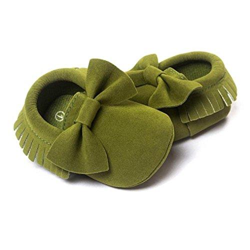 1paar Exército Do Borlas Igemy Tênis Sola Bebê Berço Lantejoulas Criança Macia Sapatos Verde Ocasional Uqx7OdwxT