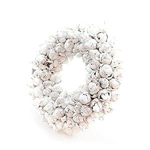 COURONNE Türkranz mit Aufhängevorrichtung 40cm in weiß, gefertigt aus Kokos-Früchten – Deko aus Naturmaterialien als…