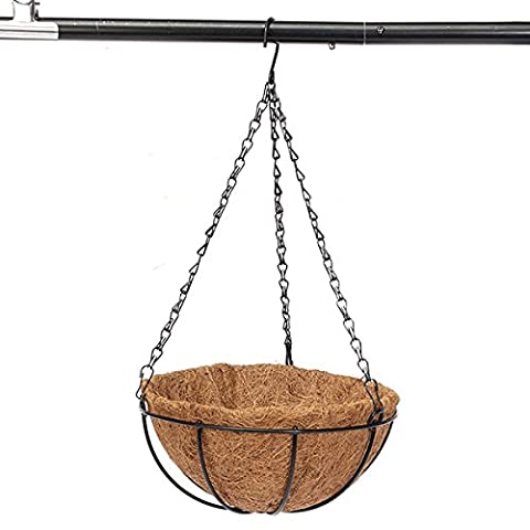 Bluelover Demi-cercle coco fibre Hanging Garden de Pot de fleur plante en pot Flowerpot-8 pouces