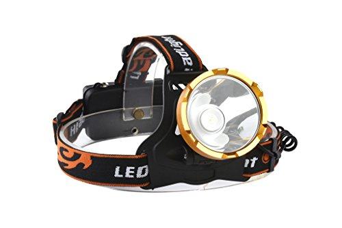 WolfWay 2000Lm LED Linterna Frontal potente de aleación de aluminio cabeza antorcha lámpara para acampar ciclismo lámpara de cabeza