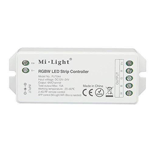 LIGHTEU®, RGBW Smart LED Streifen Controller für RGBW (RGB + warmweiß) Streifenlicht, DC 12V 24V max. 15A Controller Original Milight, Fut044 -