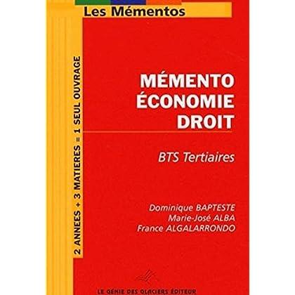 Mémento Economie-Droit BTS Tertiaires