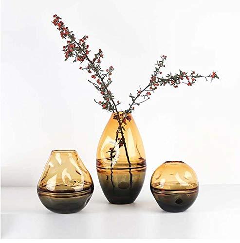FINE BOTTLE Rustic VaseIrregular, cóncavo, a Juego, jarrón de Vidrio, Flores, arreglo Floral, Sala de Estar, encimera, rústica, decoración del hogar