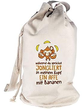 Jonglierender Affe, bedruckter Seesack Umhängetasche Schultertasche Beutel Bag