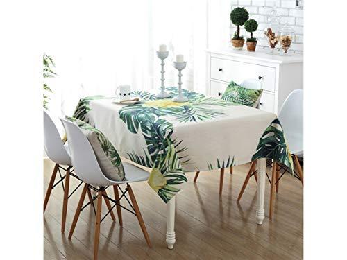 Blueqier Mini Mantel de Lino de algodón Redondo Tress Patten Mesa Cubierta para Uso en el hogar jardín de Cocina al Aire Libre (Verde) Ornamento