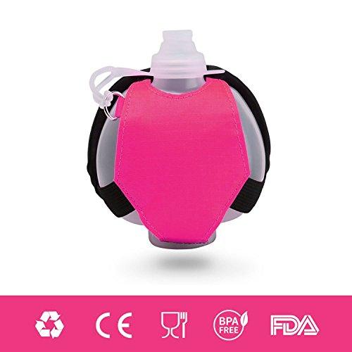 Bottiglia Acqua Polso per la Corsa Jogging Yoga Fitness e Marsupio Sportivo per Allenamento Privo di BPA 250ml Isolante della Borraccia Colore Rosa di Eyourlife