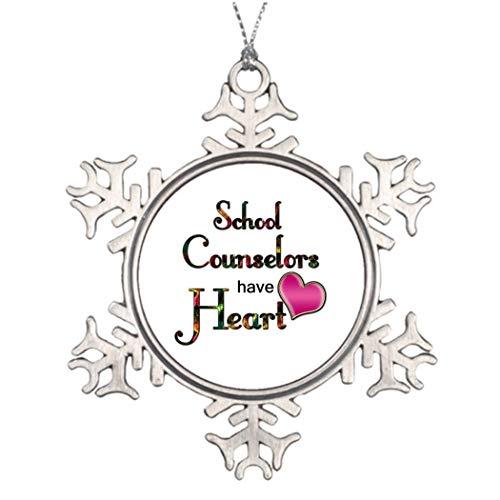 Monsety Lustige Schneeflocken-Ornamente für Schulratgeber mit Herz