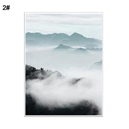 osmanthusFrag Home Cafe Wandbehang Decor Mountain Forest ungerahmt Leinwand Bild Ornament, Canvas, 2#, 21cm x 30cm