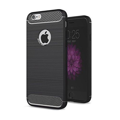 iPhone 8 Hülle TPU Case, AVIDET Ultra Slim TPU Case für iPhone 8 Schutzhülle (Blau) Schwarz