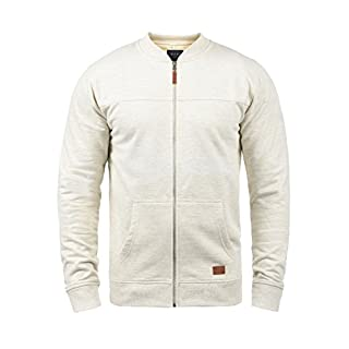 Blend Arco Herren Sweatjacke Collegejacke Cardigan Jacke Mit Stehkragen, Größe:XXL, Farbe:Sand Mix (70810)