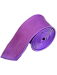 High Quality Plain Skinny Slim Satin Tie Light Purple