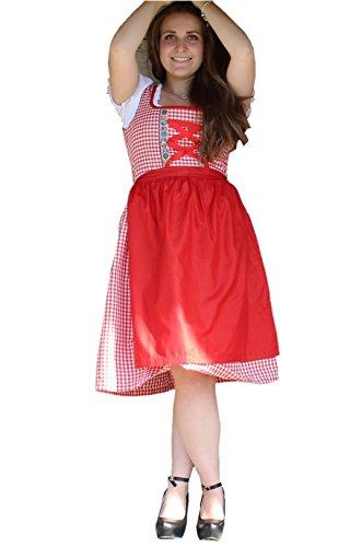 RiemTEX Trachten Dirndl inkl. Bluse aus Baumwolle Dirndlkleid im Set mit Schürze und Dirndlbluse Bayrische / Österreichische Tracht Oktoberfest 228505 (42)