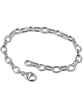 SilberDream Fußkette 925 Sterling Silber Charm Bettelarmband 25cm für Charms Anhänger FC0010