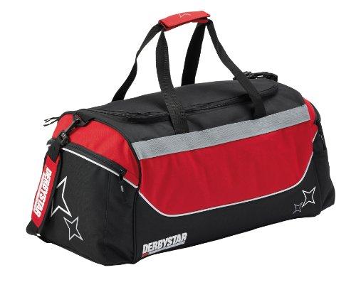 Derbystar Team - Borsa sportiva, 38 L, Nero (nero/grigio), 38 litri Nero - nero/rosso