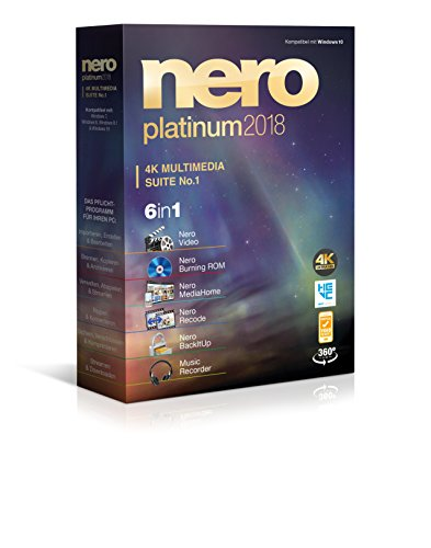 Nero Platinum 2018 (Software Dvd-cd Burning)