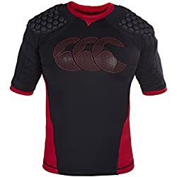 Canterbury Men Vapodri Raze Flex Vest, Black (Black/Red/White), Medium