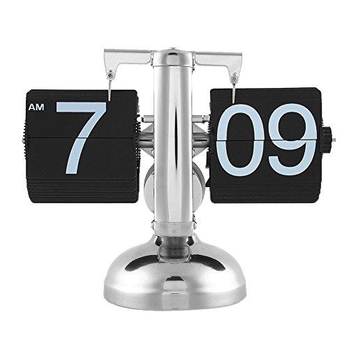 OYJJ Retro Auto Flip Digital Wecker Kalender Modern Desktop Stand Uhr Kalender Home DIY Dekoration