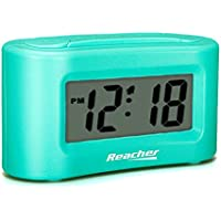 Reacher Small Digital Alarm Clock - Display ON/OFF, Simple Operation, Easy Snooze, Big Buttons, Battery Operated for Travel