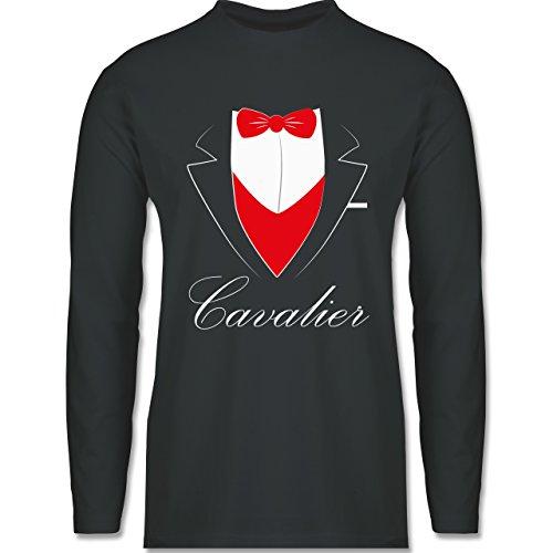 Shirtracer Statement Shirts - Cavalier Anzug - Herren Langarmshirt Dunkelgrau