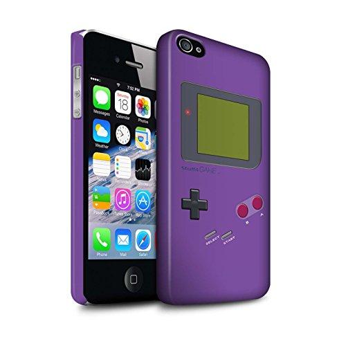 STUFF4 Matte Snap-On Hülle / Case für Apple iPhone 5C / Dunkelblau Muster / Videogamer/Gameboy Kollektion Violett