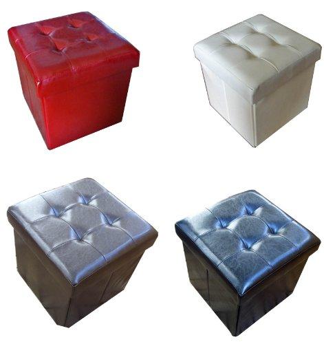 Home   Style Rouge Marron Siège Tabouret Boîte, Assise Rembourrée, Magique  de Rangement Pouf 72216155cc44