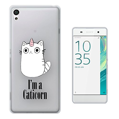 c1032-Cool-Cute-Caticorn-Pet-Unicorn-kitten-Cat-Whimsical-Design-Sony-Xperia-XA-Fashion-Trend-Protecteur-Coque-Gel-Rubber-Silicone-protection-Case-Coque