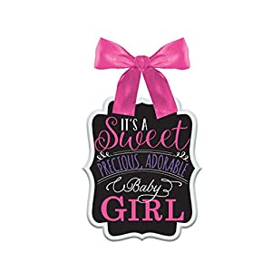 Amscan International - 241541 signsign MDF Baby Shower niña