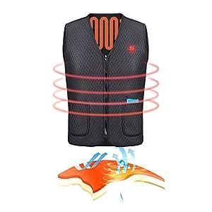 HIXGB Beheizte Weste,USB-Aufladung Elektrisch Beheizte Wärmer Weste,Waschbare Heizung Warme Kleidung Für Reiten Im Freien, Skifahren, Angeln, Camping, Wandern