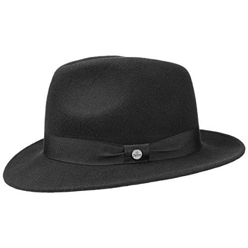 rys Mafiahut Herrenhut (L/58-59 - schwarz) (20er Jahre Mode Herren)