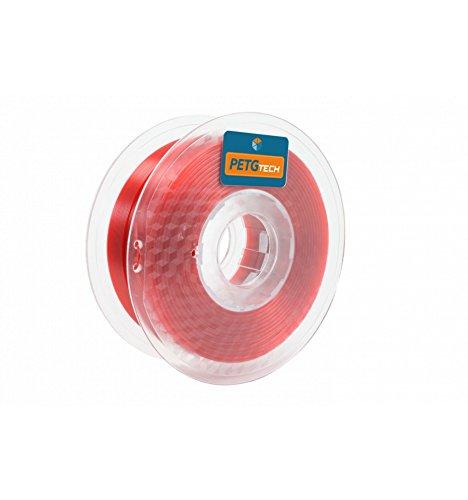 PETG Tech 1kg. Red 1.75 mm High performance P.E.T.G. Filament for 3D Printer