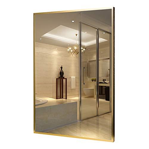 Espejo Pared de baño, Montado en la Pared de aleación de Aluminio Espejo con Marco Rectangular Espejo...