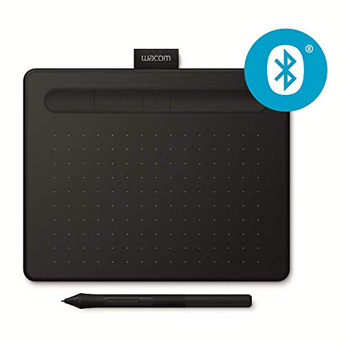 Wacom Intuos S - Tableta gráfica inalámbrica para pintar, dibujar y editar photos con 2 softwares creativos incluydos para descargar*, compatible con Windows & Mac, negro