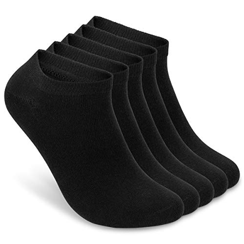 ALL ABOUT SOCKS Sneaker Socken Herren 43-46 schwarz (5er Pack) - kurze Socken Herren Baumwolle - Sneakersocken - Unterhalb Der Knöchel-socken