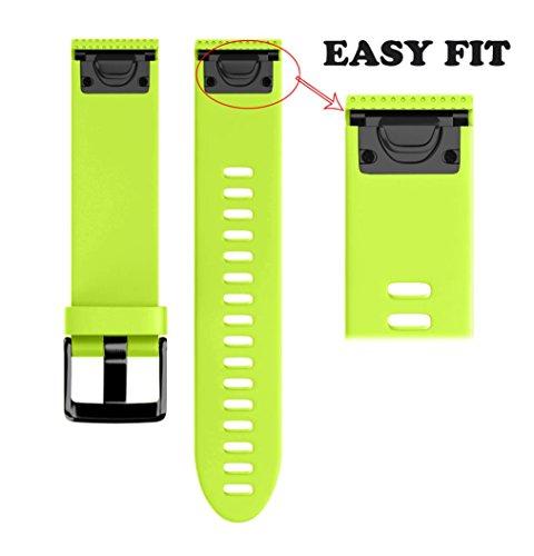 Y56® Garmin Fenix 5S Plus da 22 mm Band, morbido silicone Quick Release  Easy Fit cinghie braccialetti orologi sport cinghie con fibbia in metallo