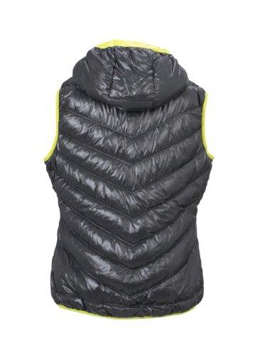 James & Nicholson Damen Jacke Daunenweste Ladies' Down Vest carbon/acid-yellow