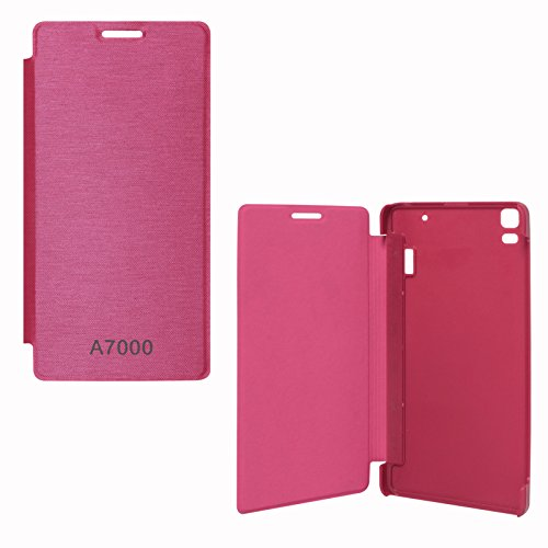 DMG Back Replace Flip Book Cover Case For Lenovo K3 Note/ Lenovo A7000 (Magenta)  available at amazon for Rs.299