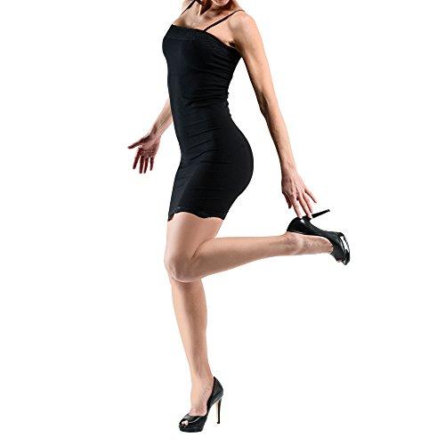 Original Skinny Jeans antailliert Kleid Damen schwarz - schwarz