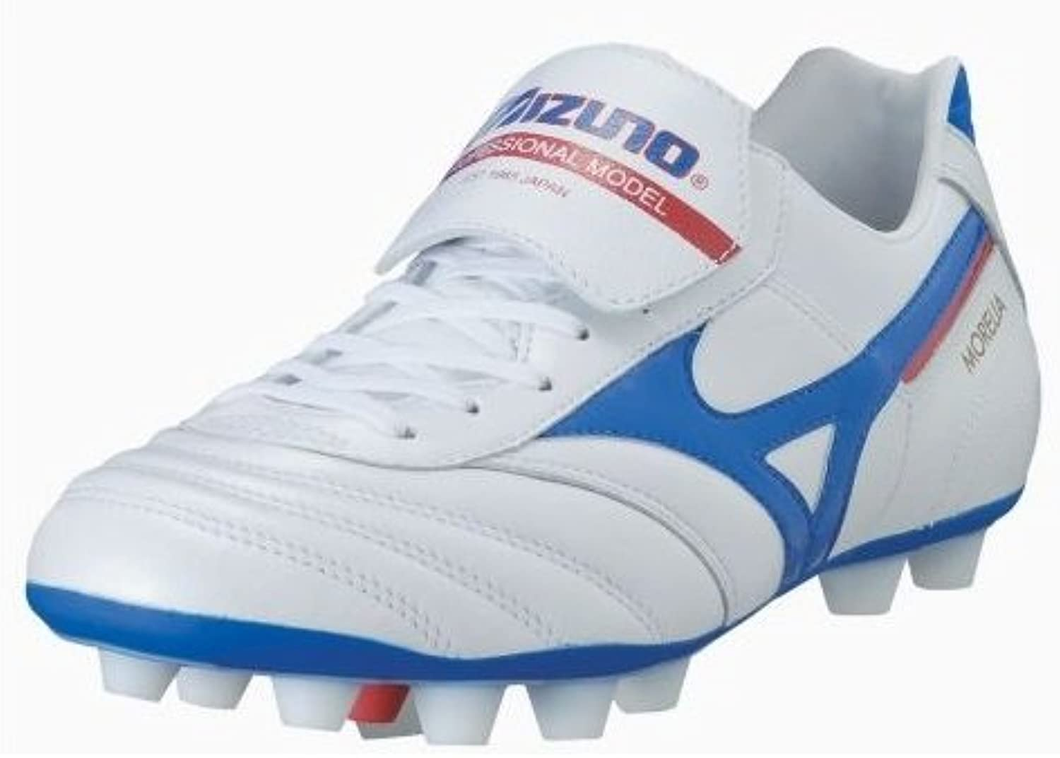 Morelia Moulded FG Football Boots   Pearl White/Blue/Red   size 8.5