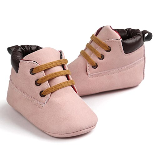 Baby Schuhe Clode® Baby hole Schnitt Kleinkind weiche alleinige lederne Schuhe Säuglingsjunge Mädchen Kleinkind Schuhe Rosa