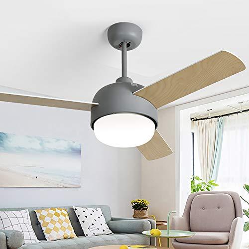 Ventilador de techo de 112 cm, moderno, minimalista, para salón, comedor, recámara, ventilador silencioso...