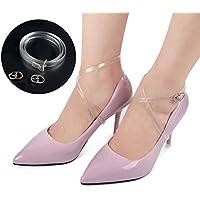 HEALIFTY transparente Schuhbänder 1 Paar Frauen Transparente Shoe Straps mit Silber Schnalle High Heels Anti-lose... preisvergleich bei billige-tabletten.eu