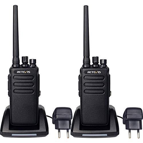 Retevis RT81 Talkie Walkie IP67 Imperméable DMR Radio 32 canaux Mode Double Numérique et Analogique Talkie-Walkie Haute Puissance Longue Distance Squelch VOX Scan Moni BCL TOT(Noir,2Pcs)